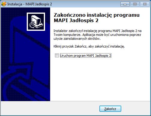 Okno instalacji programu - krok 13
